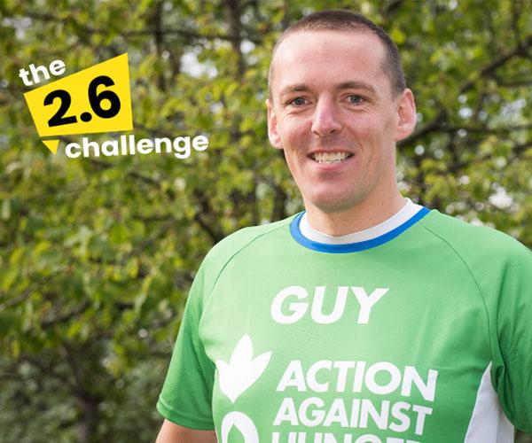 Action Against Hunger's virtual marathon runner Guy