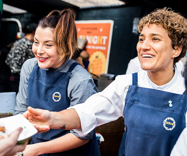 Action Against Hunger chef amnassador,Nieves Barragán Mohacho at our Love Food Street Fest Event