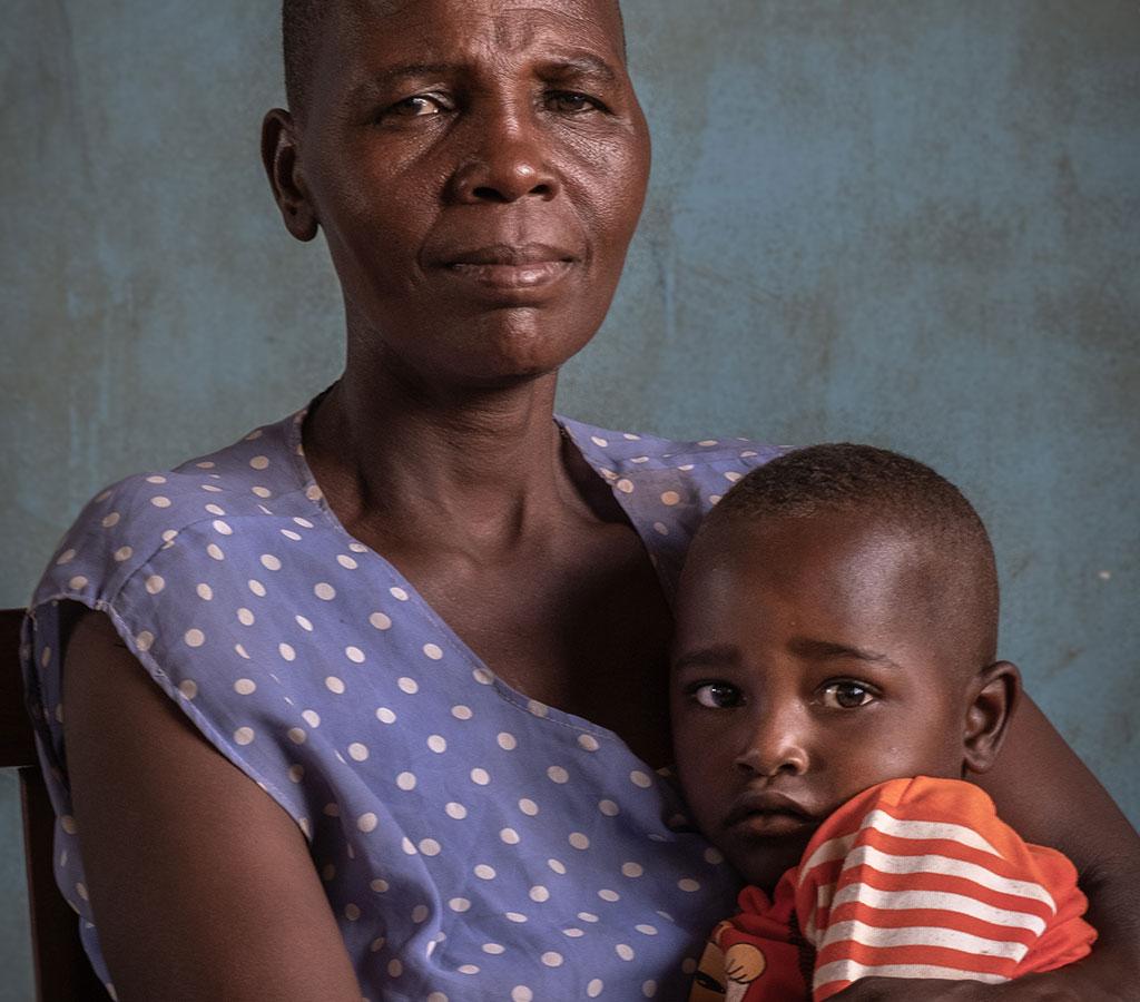 Christina and her son Musa Tanzania