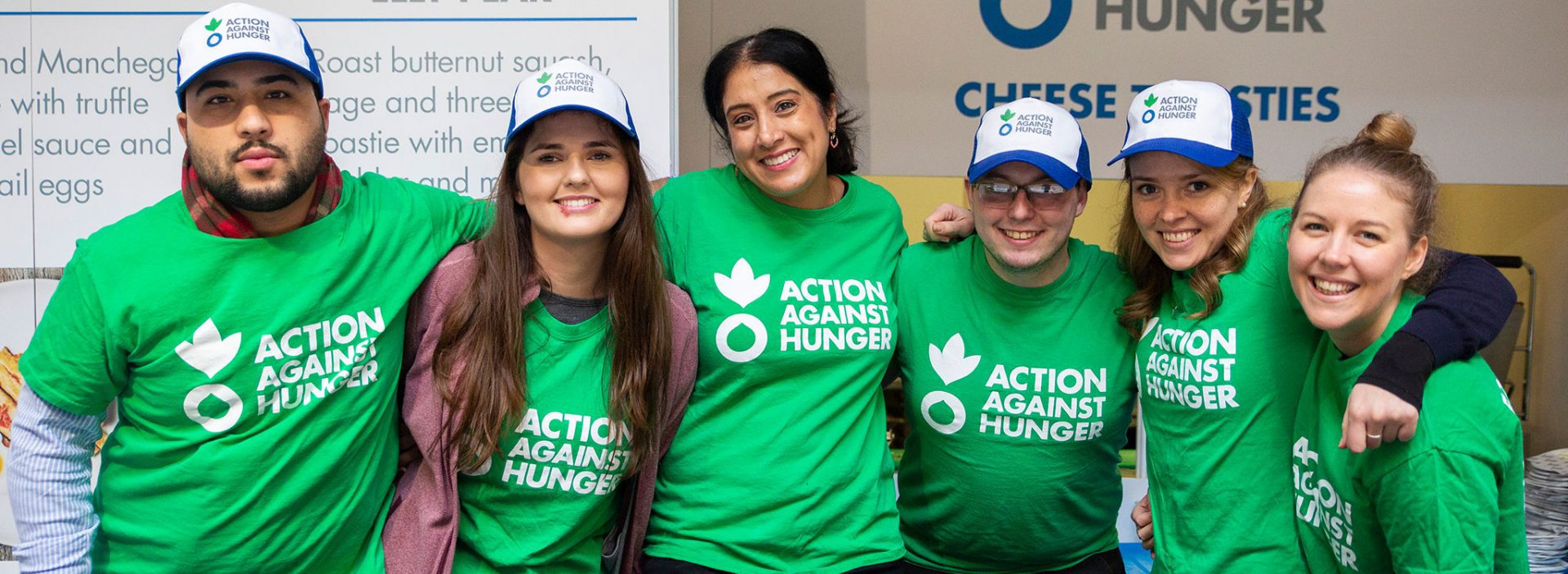 Action Against Hunger fundraisers at Taste of London event