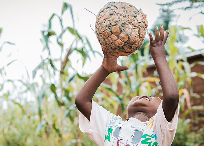 Action Against Hunger helped four-year-old Rodrick to recover from malnutrition.
