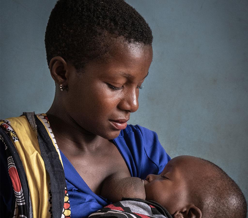 Laisha and her son Bruno in Tanzania