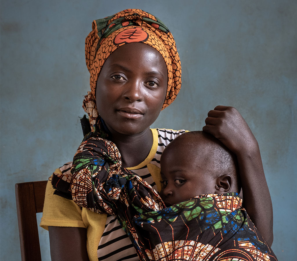 Mariam and Samson from Mpwapwa, Tanzania. Action Against Hunger supported Mariam to help Samson recover from malnutrition.