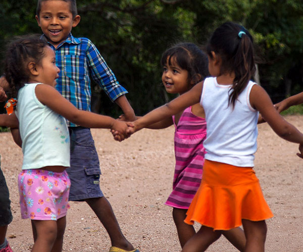 Children playing in Nicaragua.