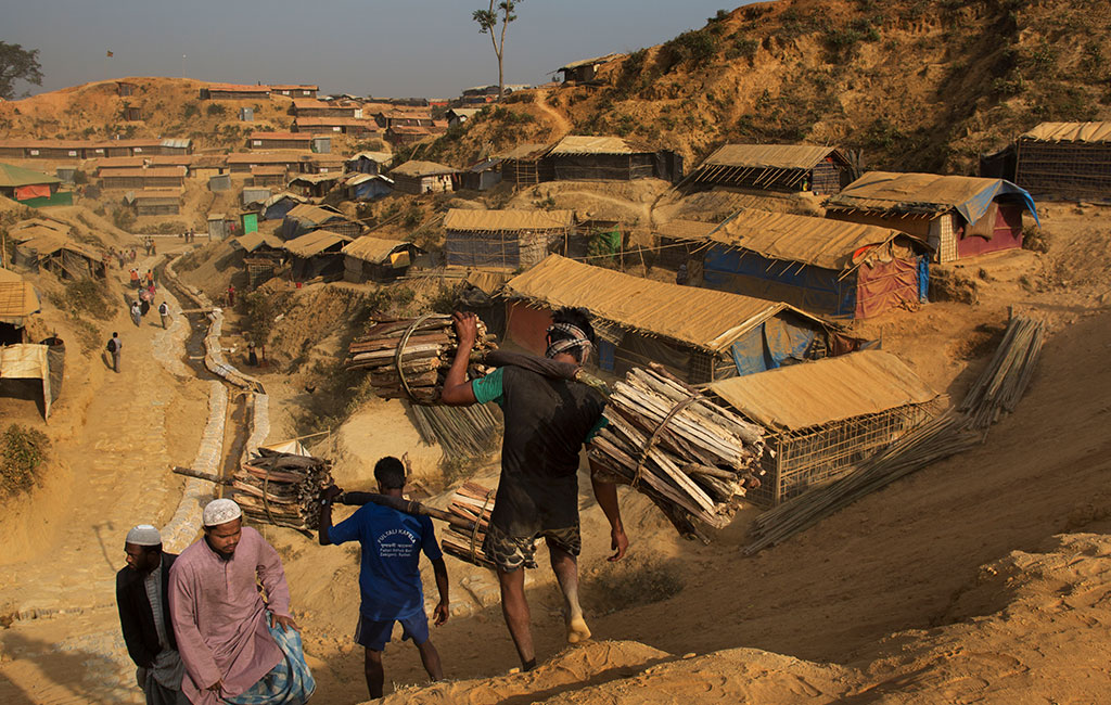 Thousands of Rohingya refugees who have fled Myanmar are now living in the huge make shift refugee camps