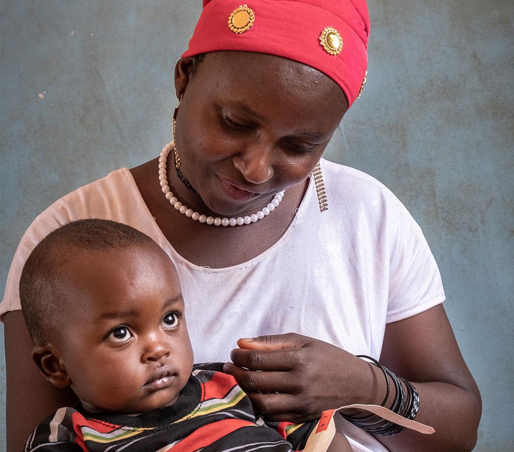 Sophia and her son Musa in Tanzania