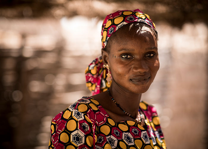 Hawa, an Action Against Hunger community health worker in Mali.