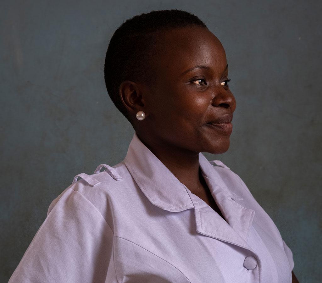 Winifred is a staff member in a health centre in Tanzania