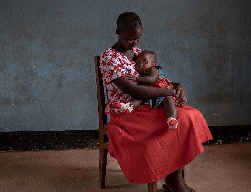 Yunis and her daughter Gloria, Tanzania