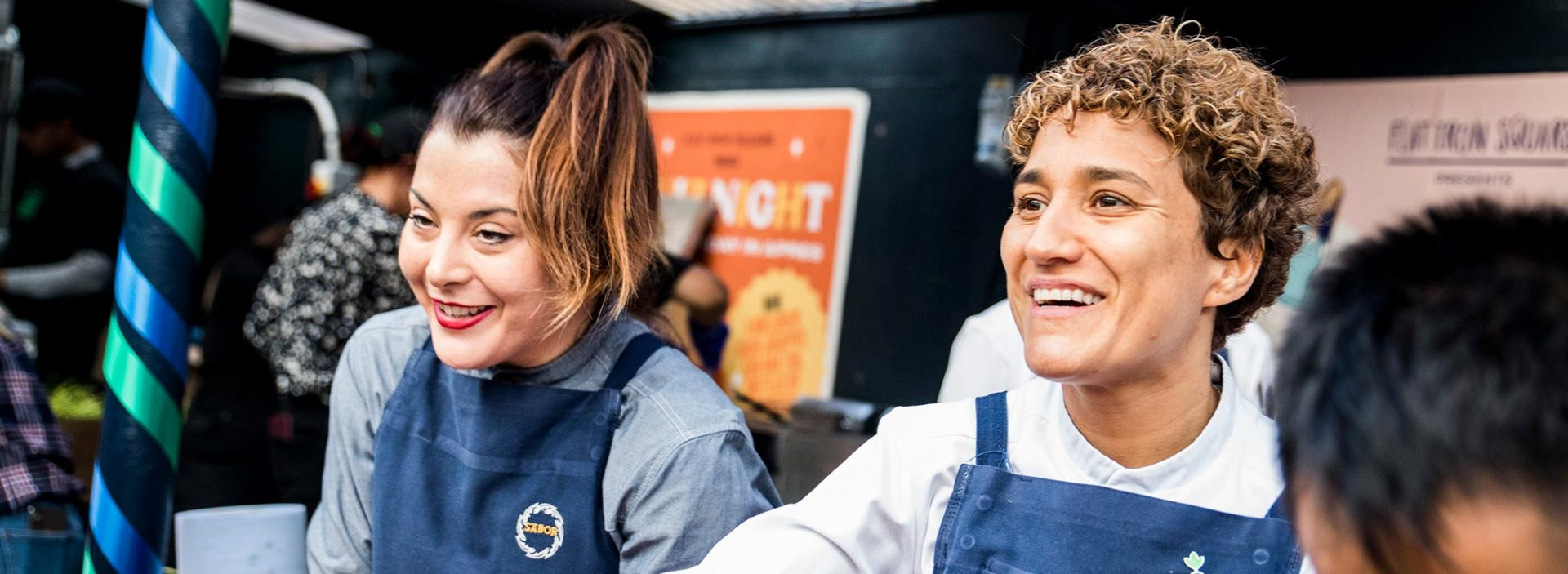 Nieves Barragan, Michelin-starred chef at Sabour Restaurant, at an Action Against Hunger event.