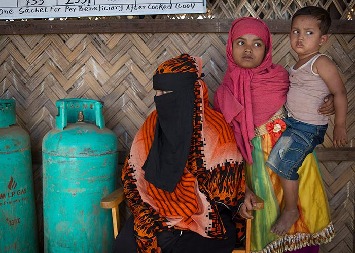 A Rohingya refugee family living in Cox's Bazar, Bangldesh.