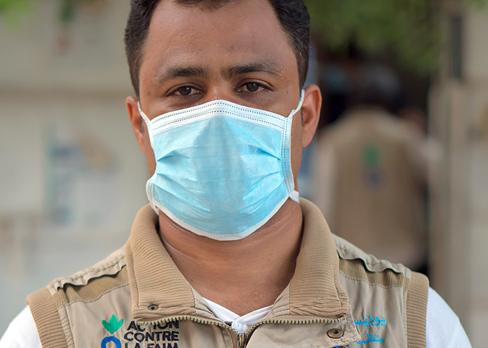 Bahaa, an Action Against Hunger member of staff in Yemen.