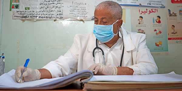 Dr Abdullah, an Action Against Hunger member of staff in Yemen.