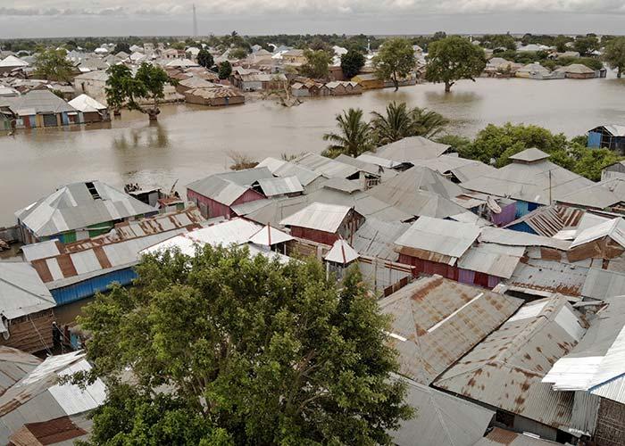 Flash floods in Somalia.