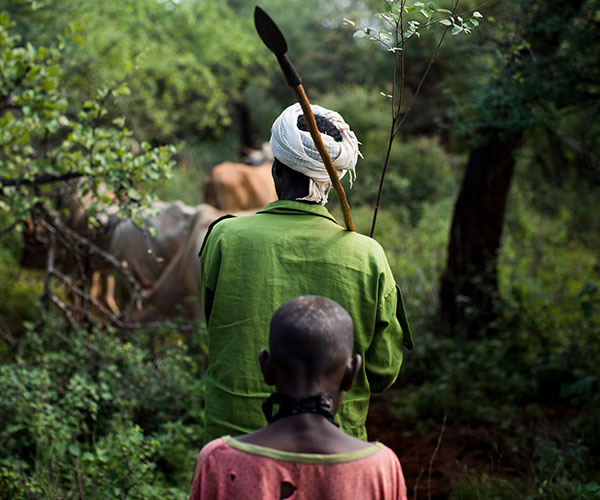 Garbicha, a herder supported by Action Against Hunger in Ethiopia.