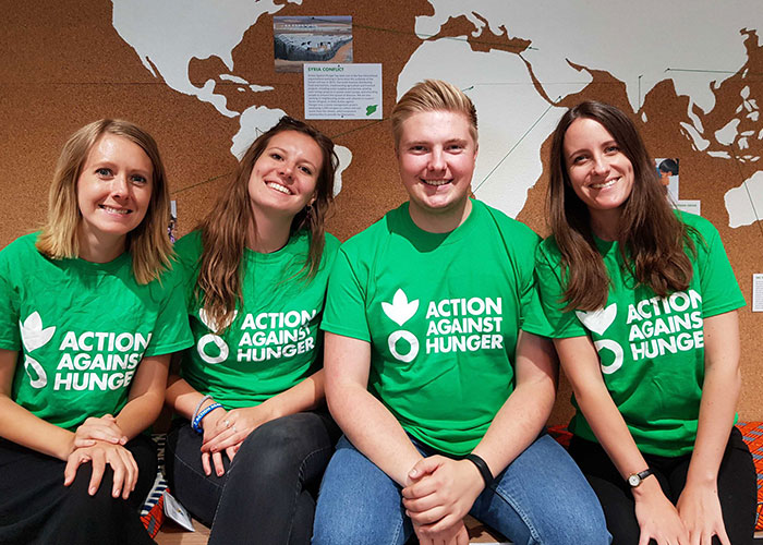 Action Against Hunger's fundraising team