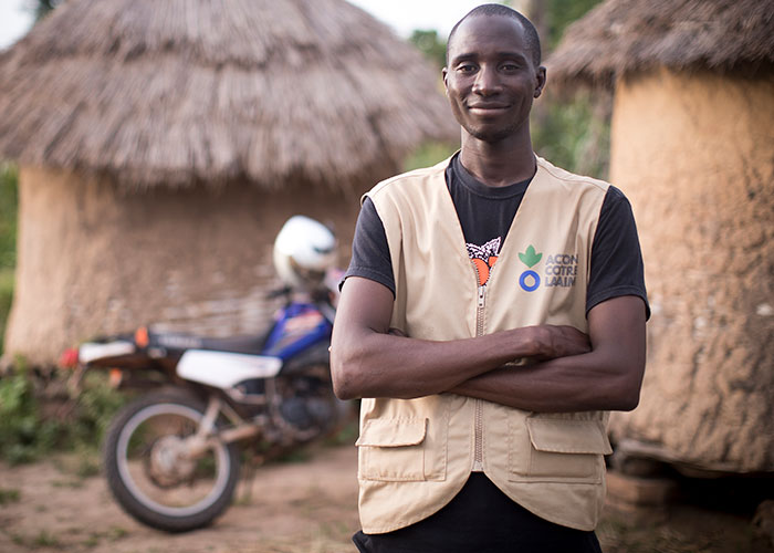 Ibrahim, an Action Against Hunger community health worker in Mali.