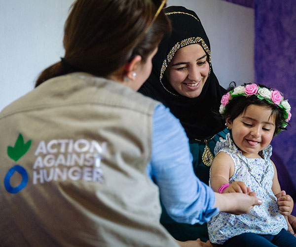 A girl supported by Action Against Hunger in Iraq.