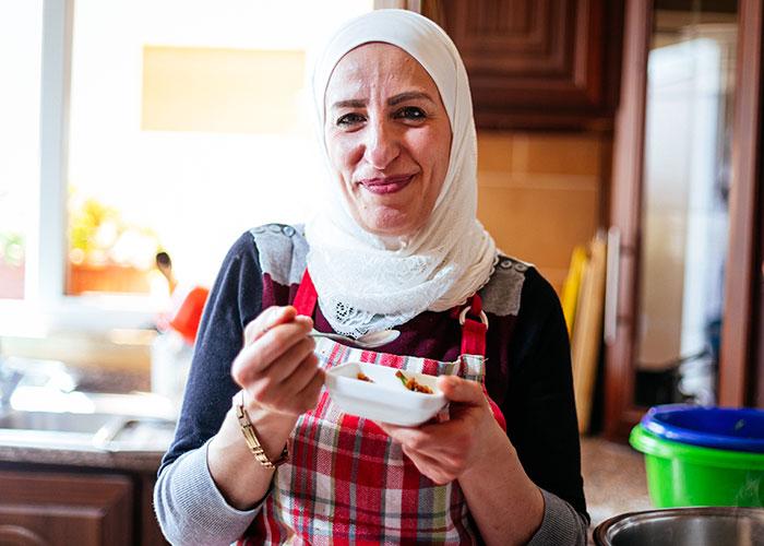 Zubaida, a Syrian refugee living in Jordan.