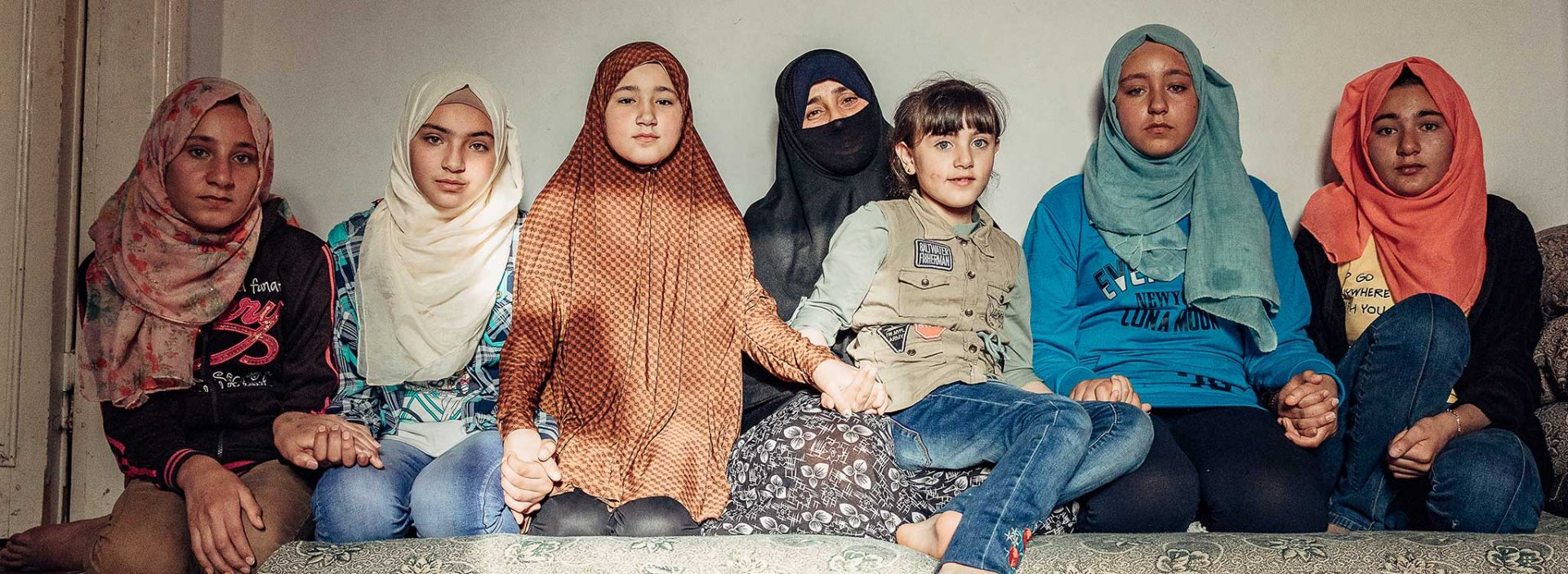 A group of Syrian refugee children in Jordan.