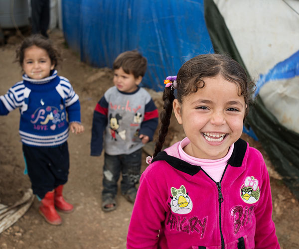 A Syrian refugee girl in Lebanon.