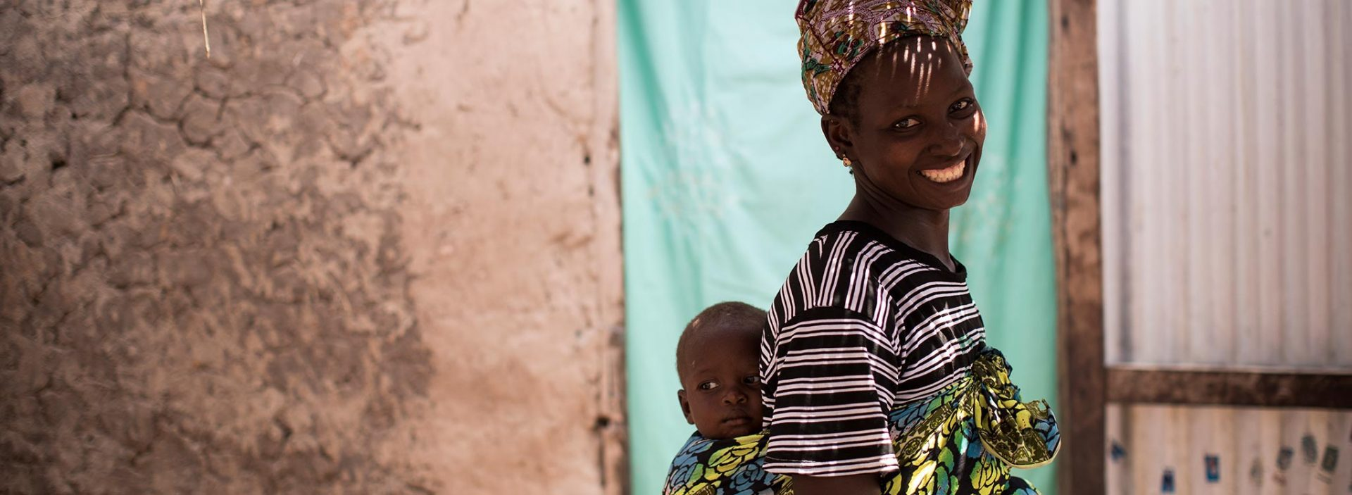 Simbo with his mum. Simbo received support from Action Against Hunger in Mali and recovered from malnutrition.
