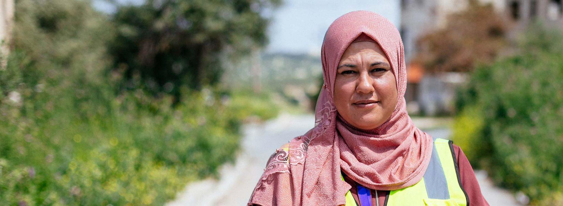 An Action Against Hunger member of staff in Jordan.