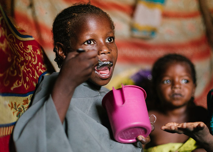 A beneficiary of the Action Against Hunger's