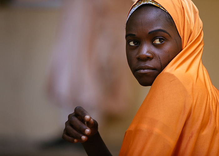 A girl supported by Action Against Hunger in northern Nigeria.