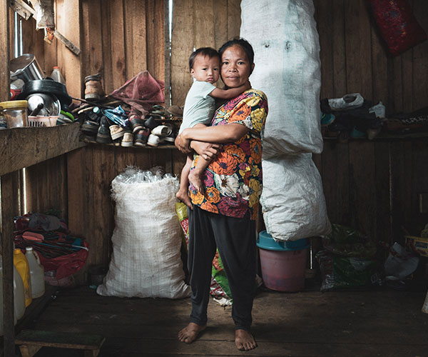 A family in the Philippines.