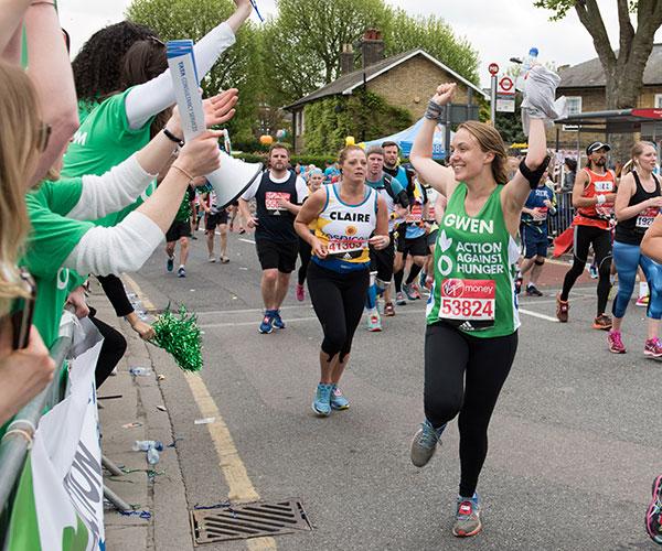 Gwen running London Marathon for Action Against Hunger