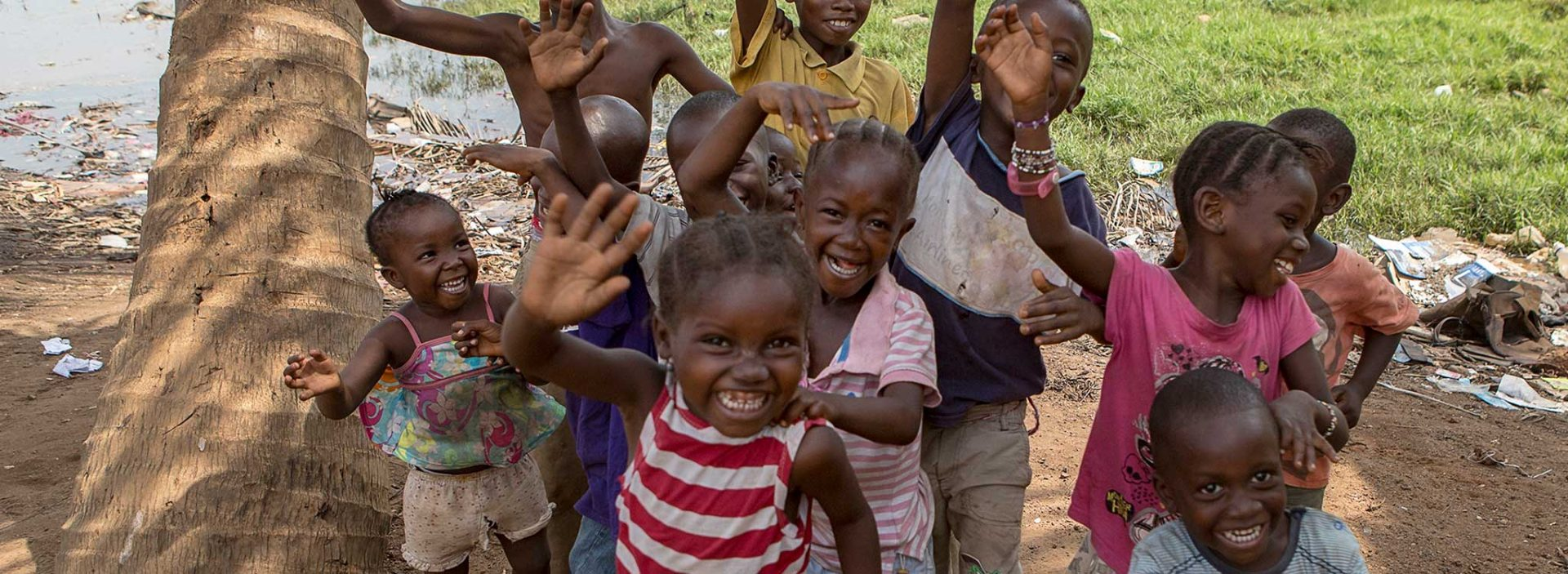 A group of children in Sierra Leone.