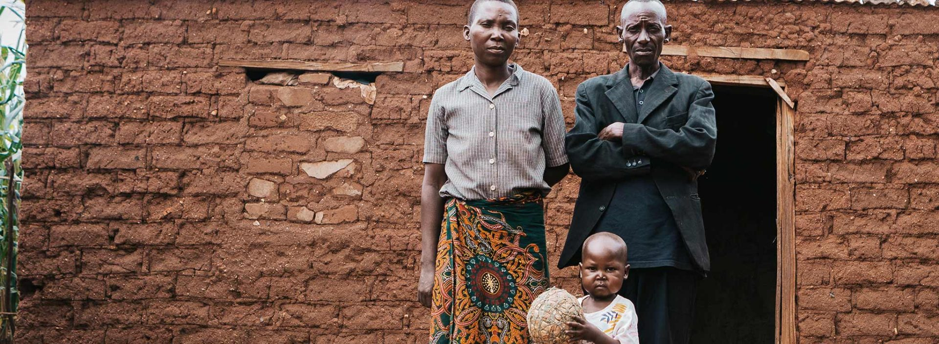 Four-year-old Rodrick and his family in Tanzania. Action Against Hunger helped Rodrick recover from malnutrition.