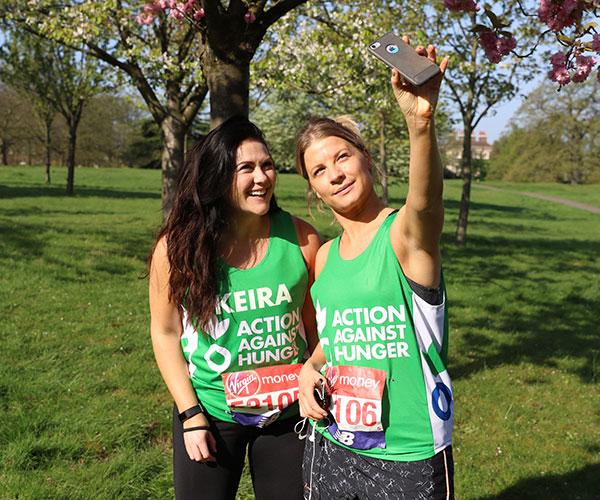 Action Against Hunger London Marathon team members
