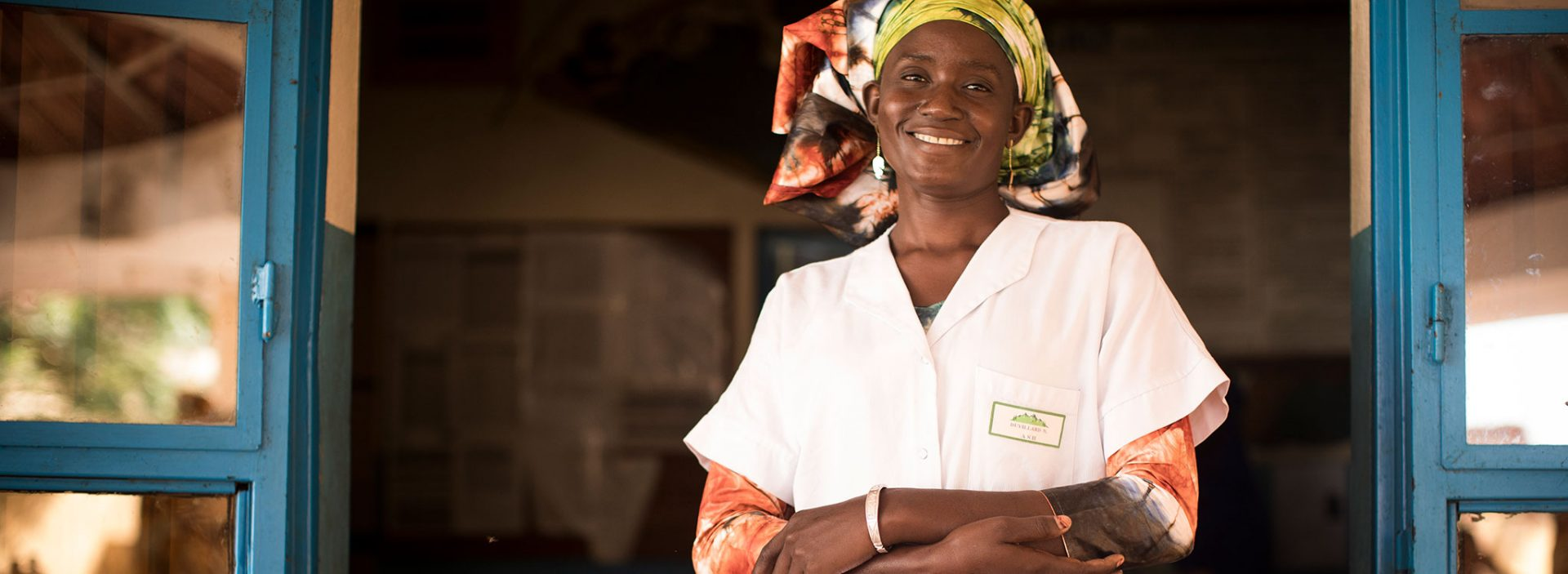 An Action Against Hunger community health worker in Mali.