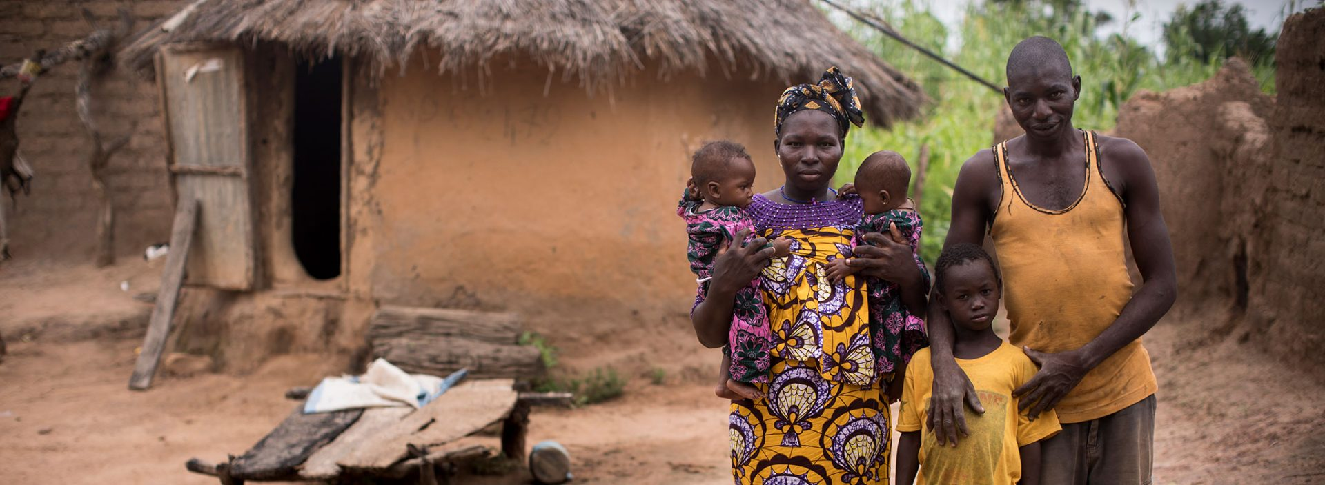 A family supported by Action Against Hunger in Mali.