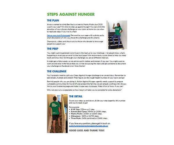 Step against hunger resources