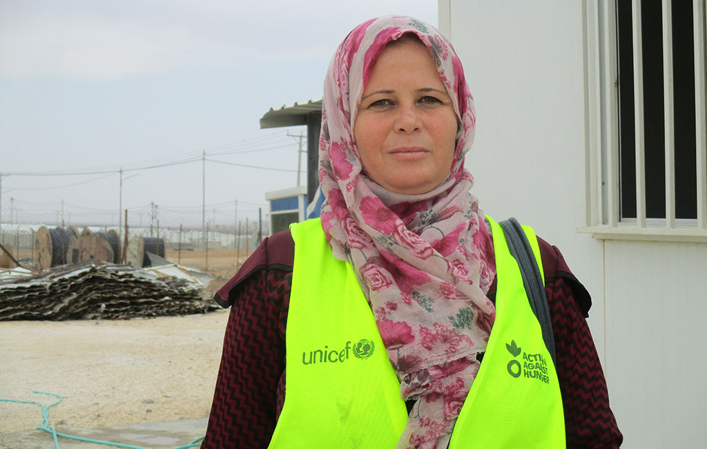 Fareejah, a refugee supported by Action Against Hunger to become a plumber.