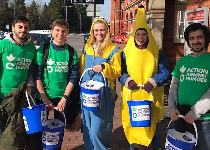 Action Against Hunger bucket collectors