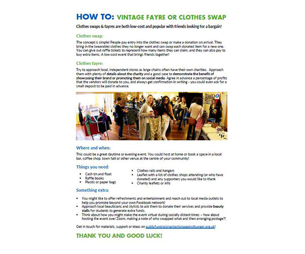 How to Clothes Swap & Fayre