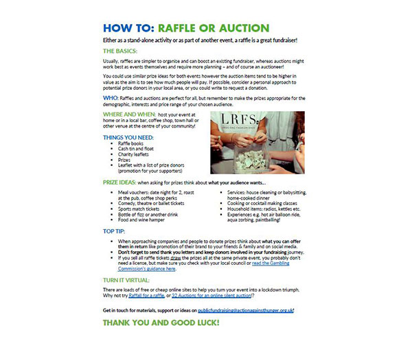 How to raffle and auction