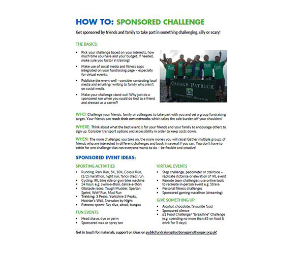 How to sponsored challenge