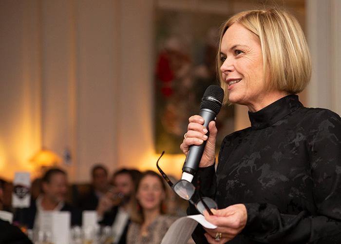 Mariella Fostrup hosts Action Against Hunger's Fine Wine and Art Dinner.
