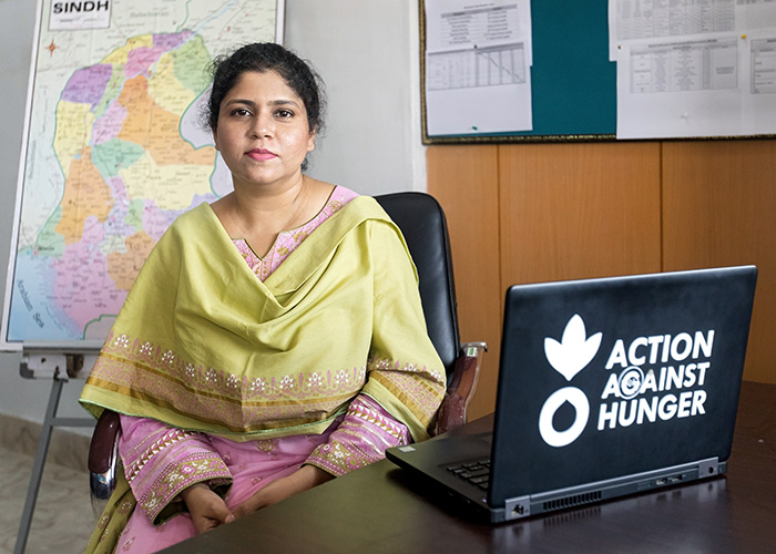 Ayesha is an Action Against Hunger member of staff in Pakistan.