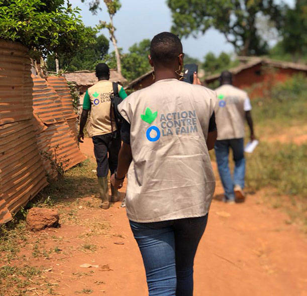 Action Against Hunger staff in Cameroon.