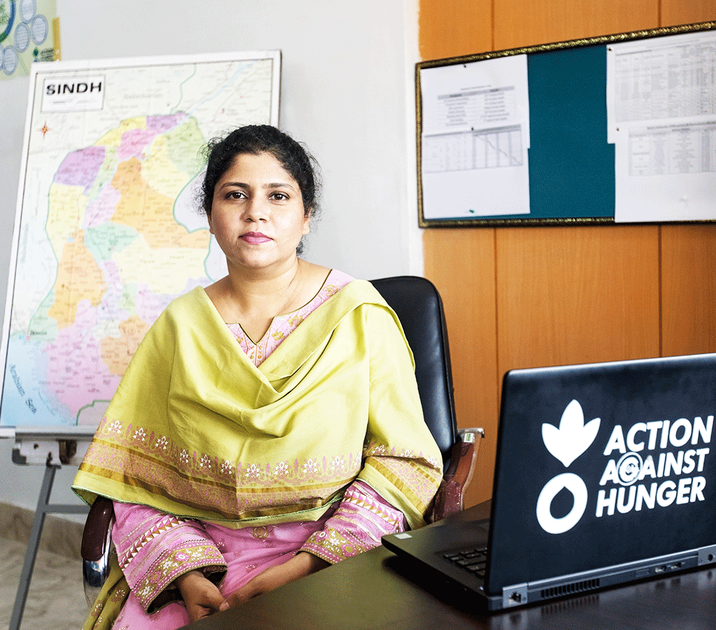 Dr Ayesha Aziz is President of an Action Against Hunger supported programme in Pakistan