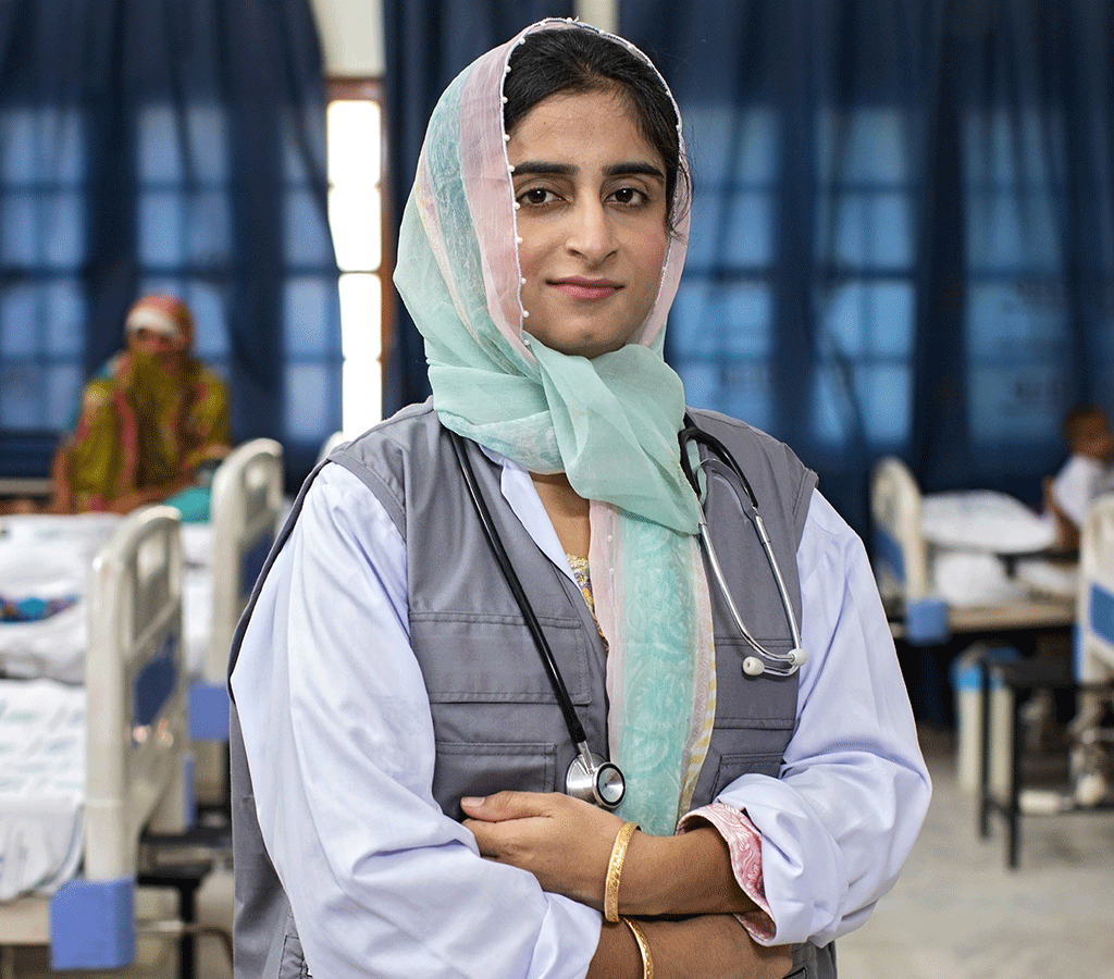 Dr Sohni Laghari,is a female medical officer at the District Headquarters Hospital in Pakistan which is supported by Action Against Hunger