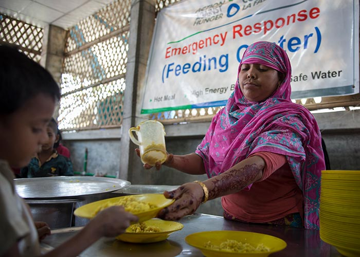 Action Against Hunger emergency response in Cox's Bazar, Bangladesh.