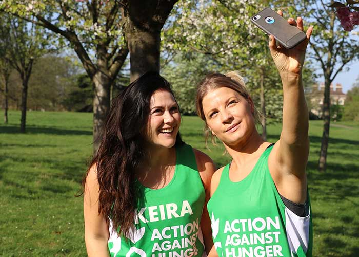 Two fundraisers take on a virtual challenge for Action Against Hunger.