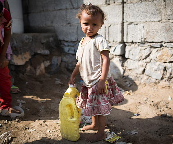 A girl who has received support from Action Against Hunger in Yemen.